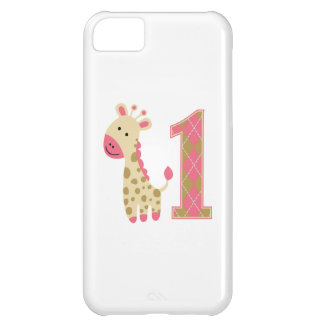 Pink Giraffe First Birthday Case For iPhone 5C