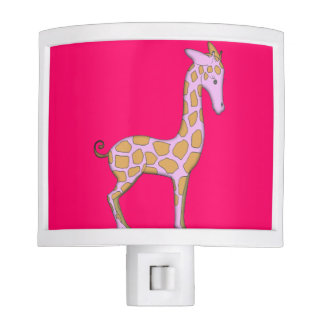 Pink Giraffe Girly Night Light