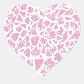 Pink Giraffe Heart Sticker