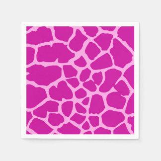 Pink giraffe jungle animal fashion glamour disposable napkin