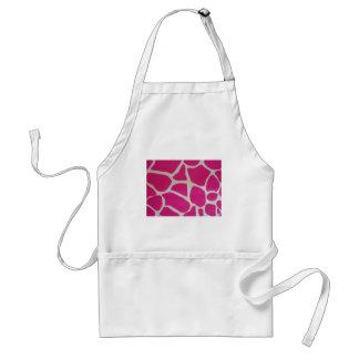 Pink Giraffe Print Standard Apron