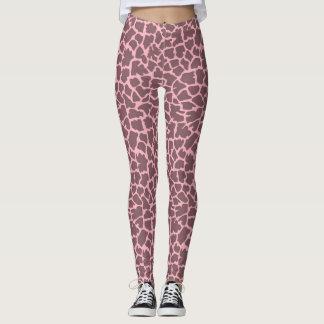 Pink Giraffe Print Leggings