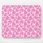Pink Giraffe Print Mousepad