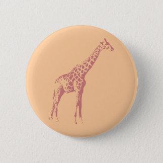 Pink Giraffe Sketch 2 Inch Round Button