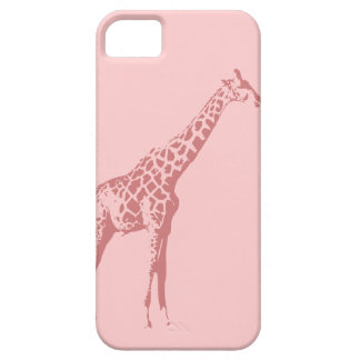 Pink Giraffe Sketch Case For The iPhone 5