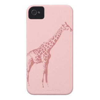 Pink Giraffe Sketch Case-Mate iPhone 4 Cases