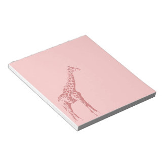 Pink Giraffe Sketch Notepad