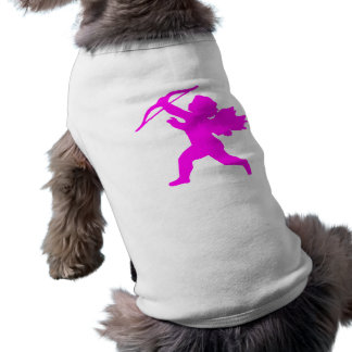 Pink Girl Angel Doggie Ribbed Tank Top Pet Clothes
