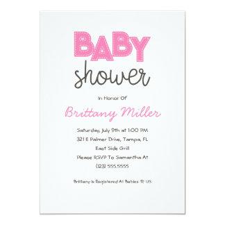 Pink Girl Baby Shower Invitation