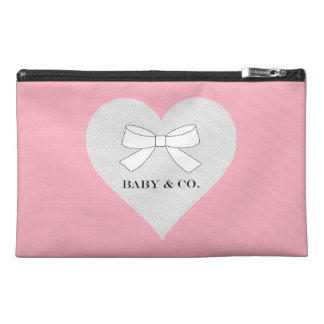 Pink Girl Heart Travel Accessory Bag