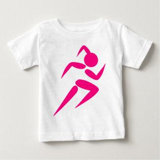 Pink Girl Running Baby T-Shirt