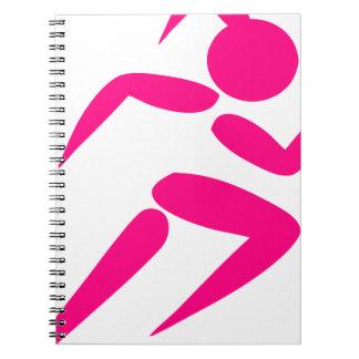 Pink Girl Running Notebooks