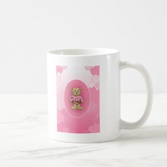 Pink Girl Teddy Bear Coffee Mug