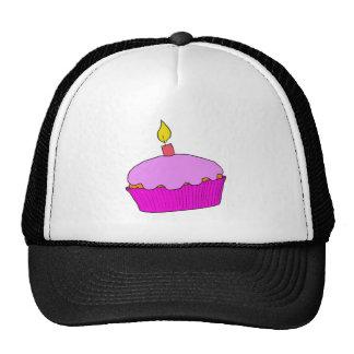 Pink Girls Birthday Cupcake Design Hats