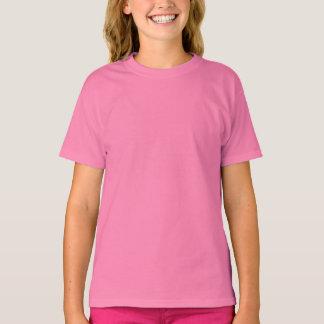 Pink Girls' Cotton T-Shirt