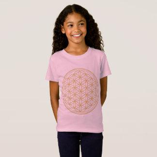 Pink  Girls Flower Of Life T-Shirt