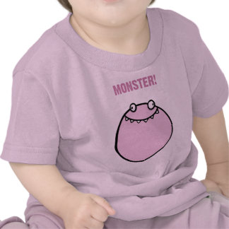 Pink Girls Monster Funny Baby Clothes T Shirt