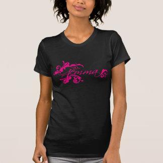 Pink girls name 'Gemma' floral design t-shirt