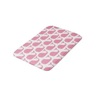 Pink Girl's Nautical Ocean Whales Bathroom Mat