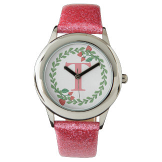 Pink Girls Personalize Your Strawberry Watch