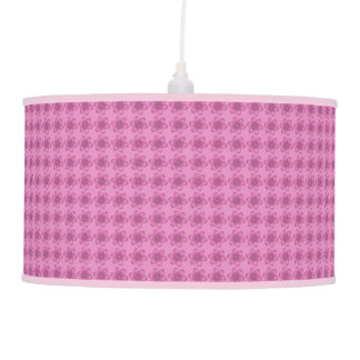 Pink Girly Floral Pendant Lamp