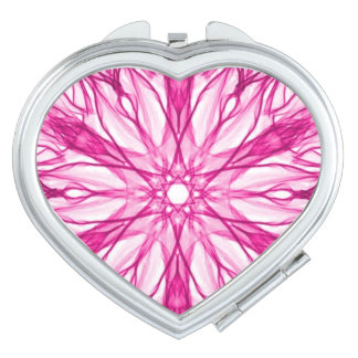 Pink Girly Fractal Mirrors For Makeup
