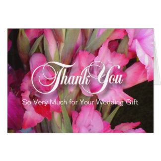 Pink Glads Thank You Blank Note Card