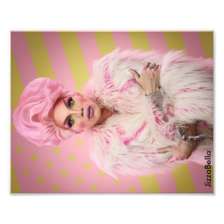 Pink Glamour 10x8 Photo Print