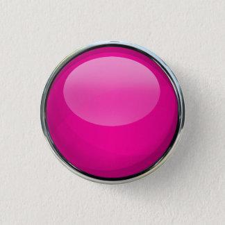 Pink Glass Ball 1 Inch Round Button