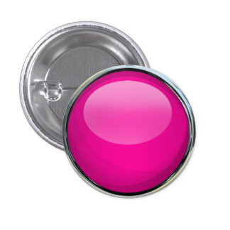 Pink Glass Ball 1 Inch Round Button