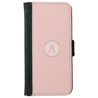 Pink Glass Button Monogram iPhone 6 Wallet Case