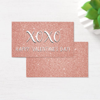 Pink Glitter and Sparkle Valentine's Day Business Card