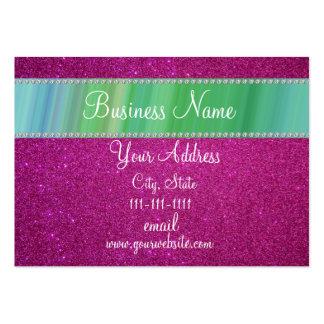 Pink glitter bling business card templates