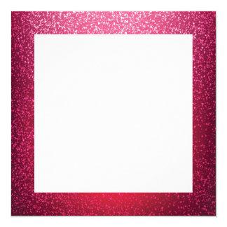 Pink glitter border template card