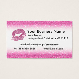 Pink Glitter Business Card