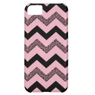 Pink Glitter Chevron iPhone 5C Matte Case