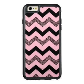 Pink Glitter Chevron iPhone 6 Plus Otterbox Case