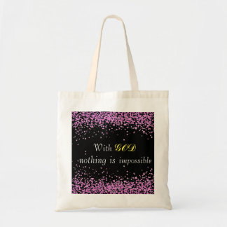 Pink Glitter Christian Tote