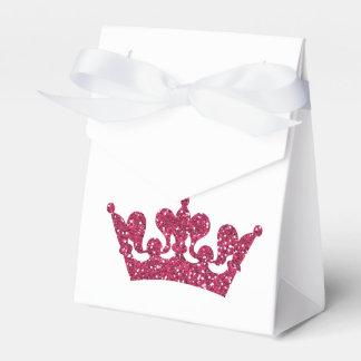 Pink Glitter Crown Princess Royal Party Boxes