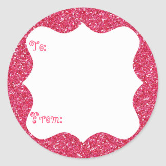 Pink Glitter Gift Tag