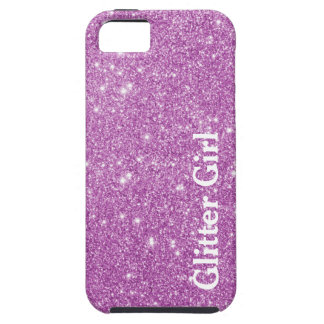 Pink Glitter Girl Show Your Glamours Sparkle iPhone 5 Cover