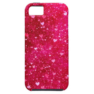 Pink Glitter Hearts Pattern iPhone 5 Cover