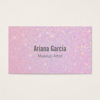 Pink Glitter Iridescent Beauty Business Card