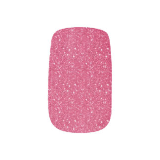 Pink Glitter  Minx Nails Fingernail Decal