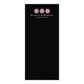 Pink Glitter Palette for Freelance Makeup Artist Rack Cards