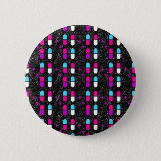 pink glitter pills 2 inch round button