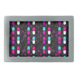 pink glitter pills belt buckle