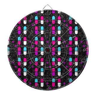 pink glitter pills dartboard