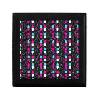 pink glitter pills gift box