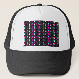 pink glitter pills trucker hat